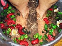Лечение теплыми ванночками подагрического артрита